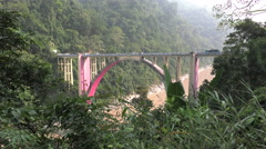 Coronation bridge, Darjeeling, India Stock Footage
