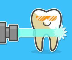 Laser teeth whitening concept. Stock Illustration