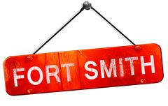 Fort smith, 3D rendering, a red hanging sign Stock Illustration