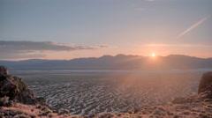 Alvord Desert Mountain Sunset Time Lapse, Steens Mountain Area Stock Footage