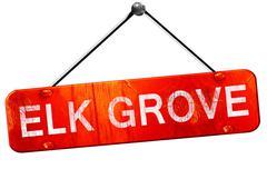 Elk grove, 3D rendering, a red hanging sign Stock Illustration