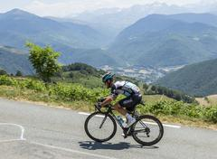 Col D'Aspin,France- July 15,2015: The Cyclist Mark Cavendish - Tour de France - stock photo