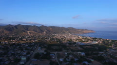 Fly Towards Puerto Lopez, Ecuador Stock Footage