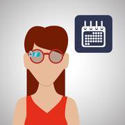Smart device design. Gadget icon. Isolated illustration , vector Stock Illustration