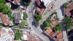 Aerial downtown santa teresa neighbourhood Rio de Janeiro Stock Footage