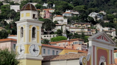 France, a small town on the Cote d'azur Stock Footage