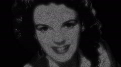 Judy Garland Actress Animation Stock Footage