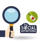 Social Advertising design. Media icon. White background , vector - stock illustration