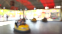 Fun Park Bumper Cars Stock Footage