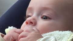 Funny baby boy - stock footage