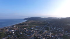 Panning to the North on the Pacific Coast of Ecuador Stock Footage