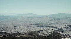 4k establishing wide shot,Athens skyline,real time,summer. - stock footage