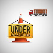 Under construction design. supplies icon. road sign illustration - stock illustration