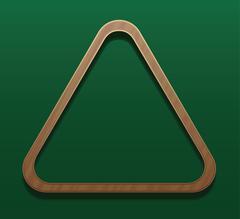 Billiard Rack Wooden Triangle - stock illustration