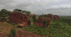 Africa Aerial rocky landscape 4K Stock Footage
