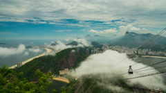View from Sugarloaf mountain in Rio de Janeiro Stock Footage