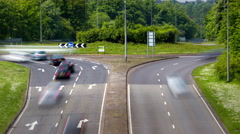 Time Lapse of Day Traffic in UK Stock Footage
