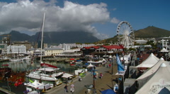 Cape Town - South Africa - V&A Harbor Shops and Restaurants Stock Footage