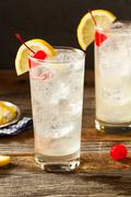 Refreshing Classic Tom Collins Cocktail - stock photo