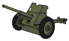 Old green cannon Stock Illustration