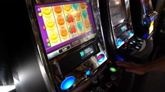 Slot machines in casinos in the ferry. Stock Footage