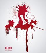 Blood design. abstract icon. Colorful illustration - stock illustration