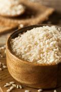 Raw Organic Arborio Rice - stock photo