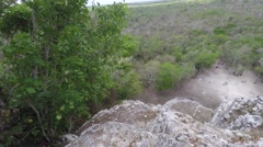 View from on top of Mayan ruin in Coba near Tulum Mexico Stock Footage