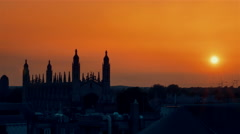CAMBRIDGE, UK - CIRCA 2016 - time lapse of Sunrise over King's College Chapel Stock Footage