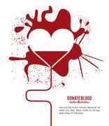 Blood design. Health care icon. Colorful illustration - stock illustration