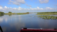 Airboat on the Everglades - stock footage