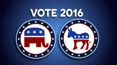 Democrat, Republic Voting, President Election Stock Footage