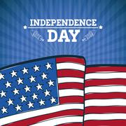 Independence day. Usa icon. Celebration concept , vector Stock Illustration