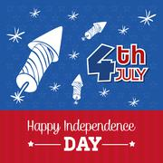Independence day. Usa icon. Celebration concept , vector - stock illustration