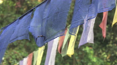 Prayer flags moving in the breeze Stock Footage