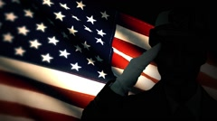US Military Soldier Solute US Flag Stock Footage