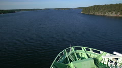 Big marine ferry sailing through ducts Norström in the Baltic sea. Time Lapse. - stock footage