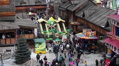 Сelebration of Maslenica carnival in Moscow, Russia Stock Footage