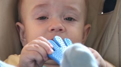Growing theet - rubber toy for chewing - stock footage