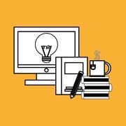office design. supply icon. Isolated illustration , editable vector - stock illustration