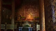 Phra Singh buddha statues  ,Chiangmai Thailand. (dolly shot) Stock Footage