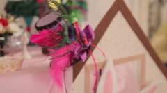 decorations and birthday party decorations - stock footage