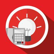 office design. corporate icon. Isolated illustration - stock illustration