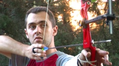 HD - Archery in nature - stock footage