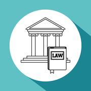 Law design. Justice icon. Grey background, vector illustration Stock Illustration