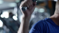 Footage man training in a fitness club Stock Footage