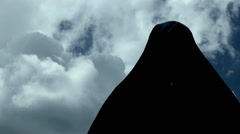 HD - Evil man appearing Stock Footage