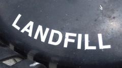 Landfill garbage bin land fill Stock Footage