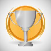 Champion design. winner icon. Colorful illustration , vector - stock illustration