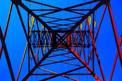 High voltage post - stock illustration